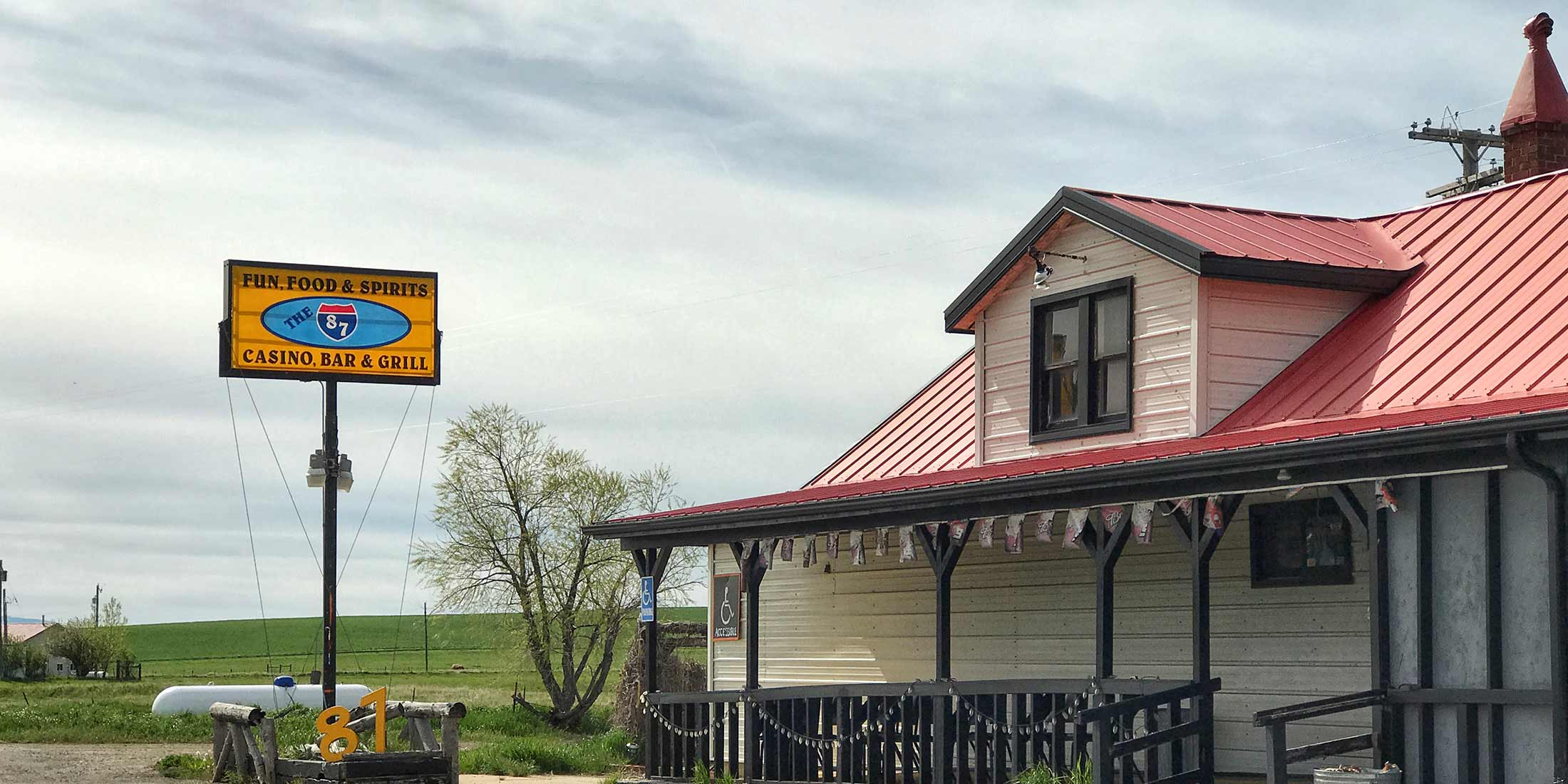 The Bar 87 is located in Windham, Montana on Highway 87 in Judith Basin County.