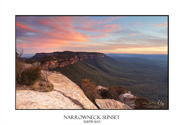 Narrowneck sunset Blue Mountains