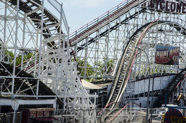 Cyclone Roller Coast In Coney Island Brooklyn-Luna Park