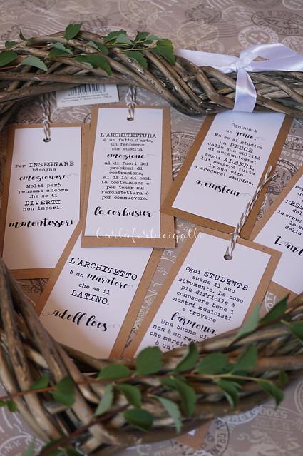 Segnalibri segnaposto matrimonio - Bookmarks Wedding Placeholders