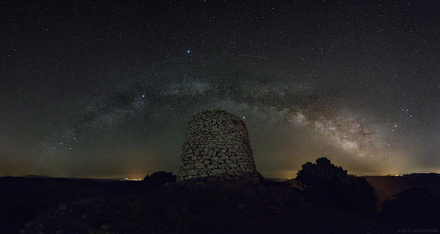 Milky Way Arch on Goni Ancient Nuraghe