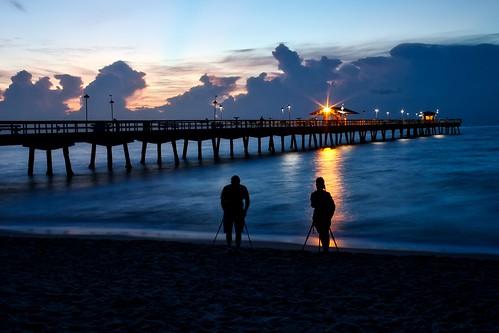 photographers lauderdalebythesea commercialpier fortlauderdaleflorida sunrise sunrisephotographers silhouette pier