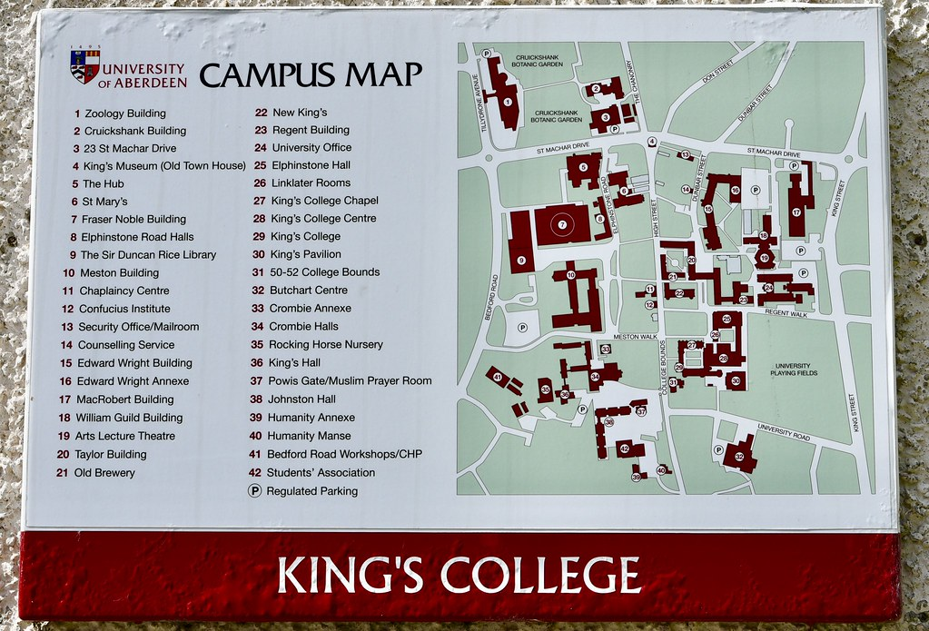 university of aberdeen campus map Campus Map Aberdeen University Old Aberdeen Scotland 2017 Flickr university of aberdeen campus map