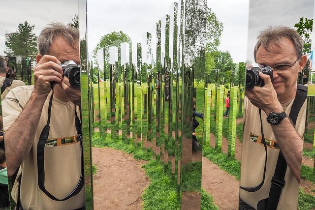 """Spiegelinstallation """"Reflecting Gardens"""" (1)"""