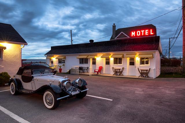 Blue Motel / Gaspe / Canada