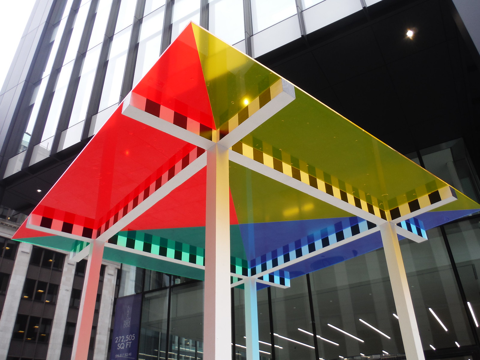 Daniel Buren - 4 Colours at 3 Meters High Situated Work SWC Walk Short 24 - Sculpture in the City
