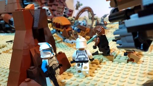 Lego Star wars Geonosis MOC   by Legoswbr