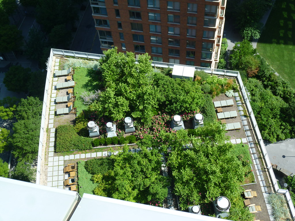 A Manhattan High Rise With Two Green Roofs Brooklyn