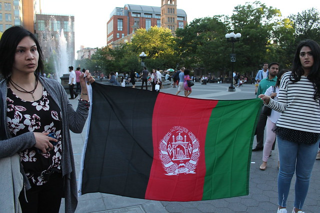 Afghan-Americans hold NYC vigil to protest Kabul bombing, June 2, 2017
