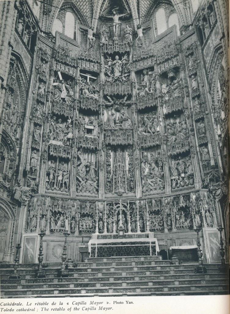 """Altar Mayor de la Catedral. Libro de Víctor Crastre. Foto de Jean Dieuzaide """"Yan"""""""