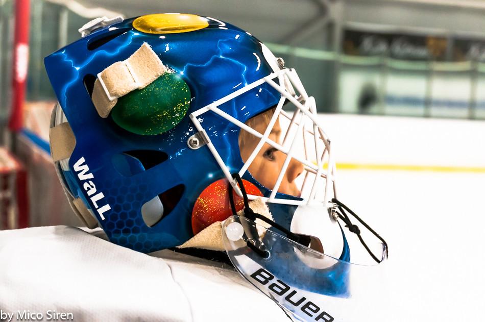 7 Year Old Ice Hockey Goalkeeper Mask 7 Year Old Ice Hock Flickr