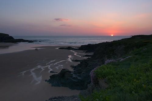 Sunset at Treyarnon Bay | by ndimmock