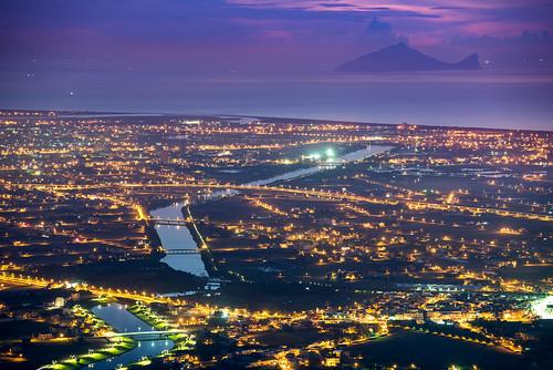 taiwan 台灣 宜蘭 龜山島 冬山 冬山河 sunrise nightview
