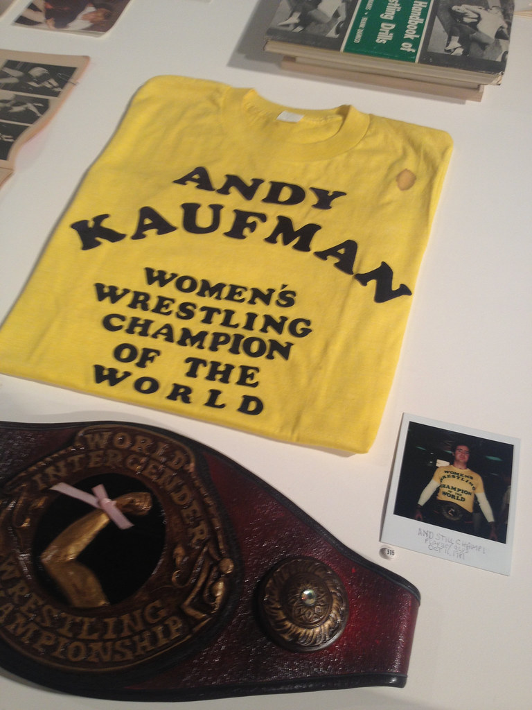 """9c4555fc ... Andy Kaufman's """"Women's Wrestling Champion of the World"""" t-shirt as  seen at"""