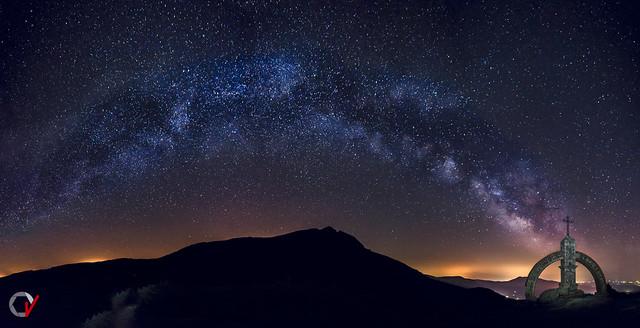 Panorámica de la Vía Láctea.