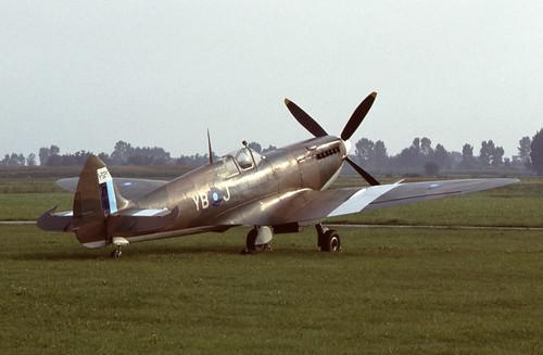 Supermarine Spitfire Mk.VIII at Levaldigi airport, Italy in Sept. 1984