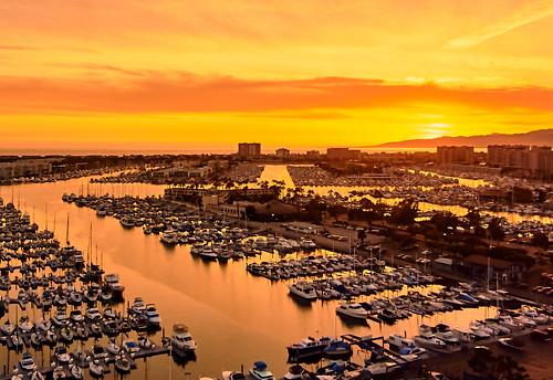sunset california losangeles marinadelrey