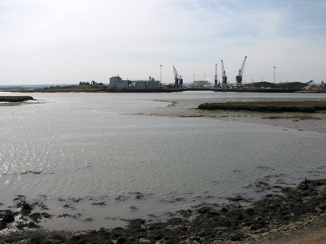 Ridham Dock from the Isle of Sheppey