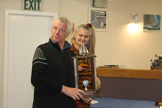 Balir Park receiving trophy for first in the Mark Foy Series | by PLSC (Panmure Lagoon Sailing Club)