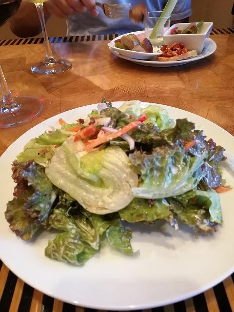 <p>サラダがいっぱい食べられるのがうれしい。</p>