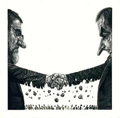 Rajoy y Zapatero. Ricardo Martínez