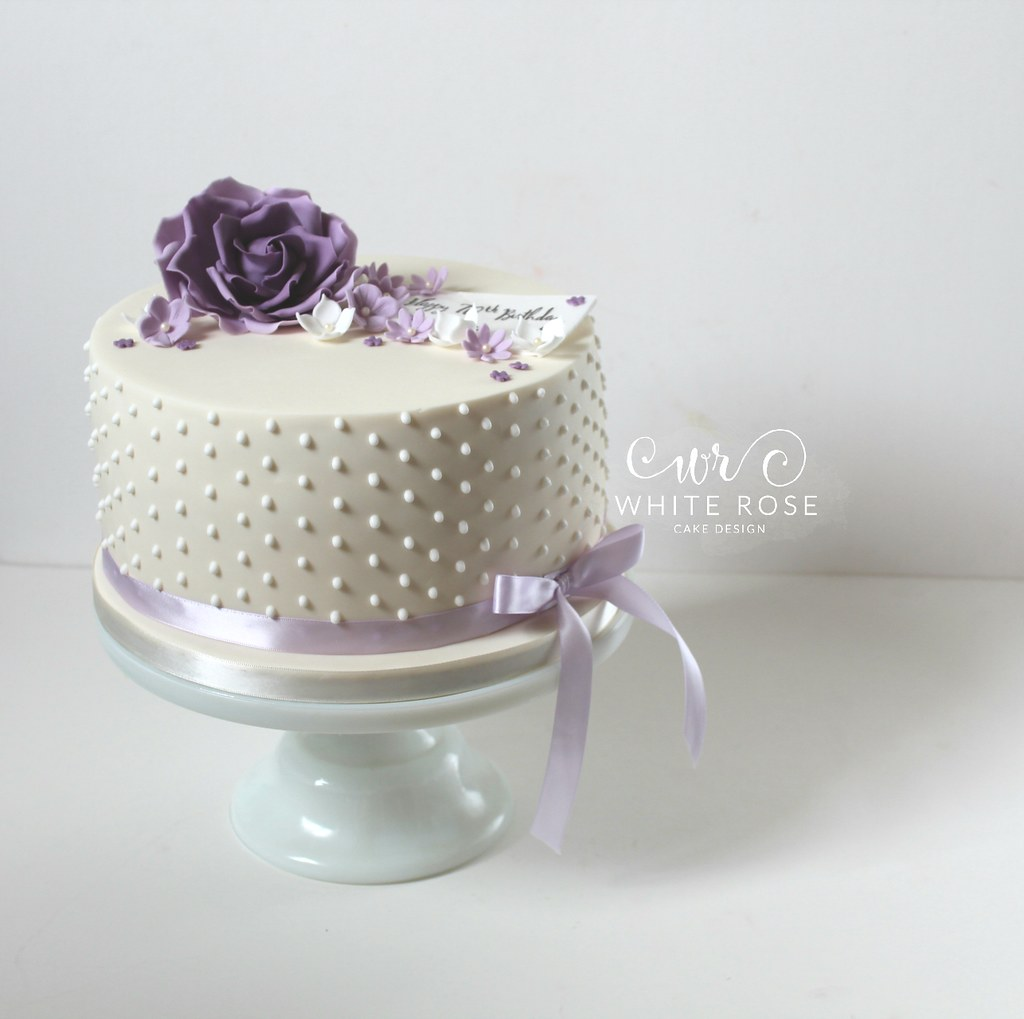 Excellent Purple Lilac 70Th Birthday Cake By White Rose Cake Design Flickr Funny Birthday Cards Online Fluifree Goldxyz