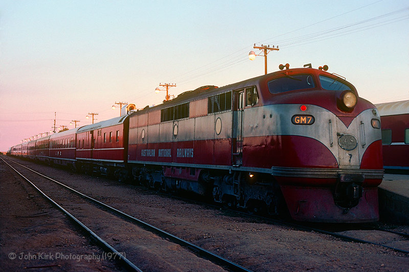 Dawn breaks at Marree with the Ghan transfer by Beyond Trains