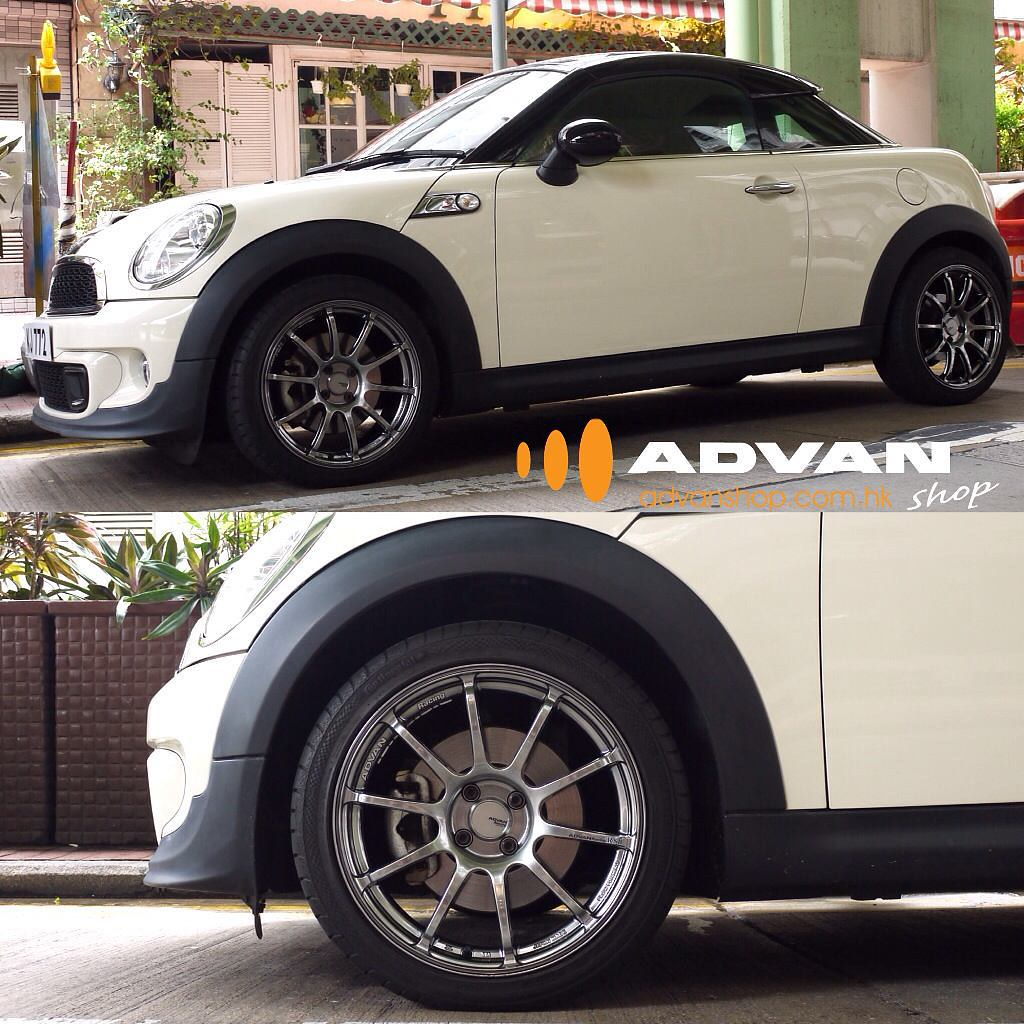 Mini R58 Coupe With Advan Racing Rs2 Wheels Advanshophk Flickr