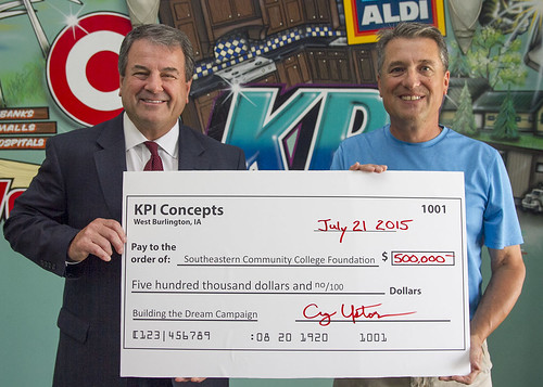 Craig Upton of KPI Concepts supports BTD with $500K gift | by Southeastern Community College Iowa