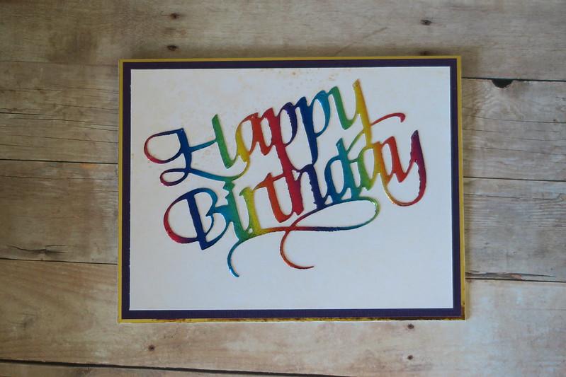 OCC Sparkle and Shine - Rainbow Foil Birthday