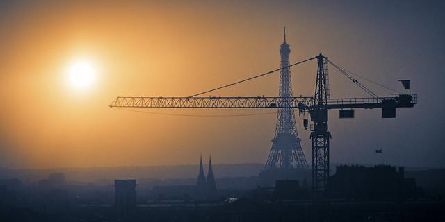 Por-do-sol a partir do Centro Georges Pompidou - Paris