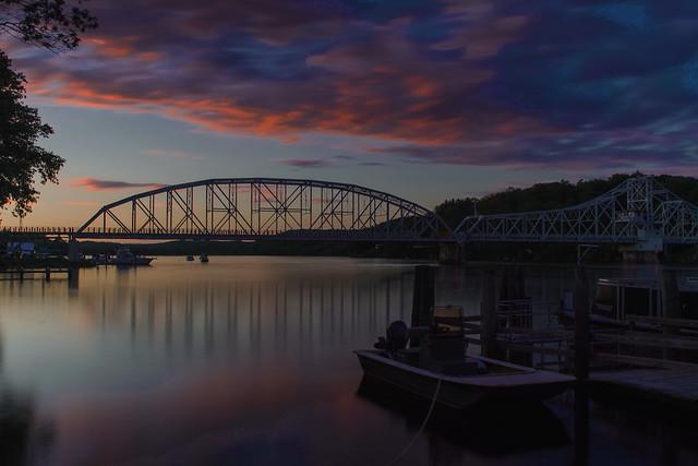 Swing Bridge at Sunset-Expored