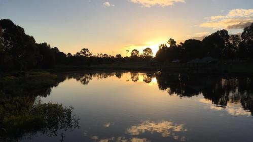 2017 lake water sunset landscape iphone6plus queensland meadowbrook park riverdale australia logan city reflection