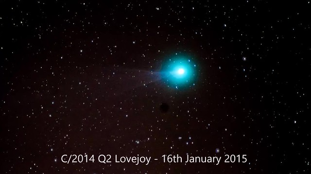 Comet C/2014 Q2 (Lovejoy) Timelapse Video 16th January 2015