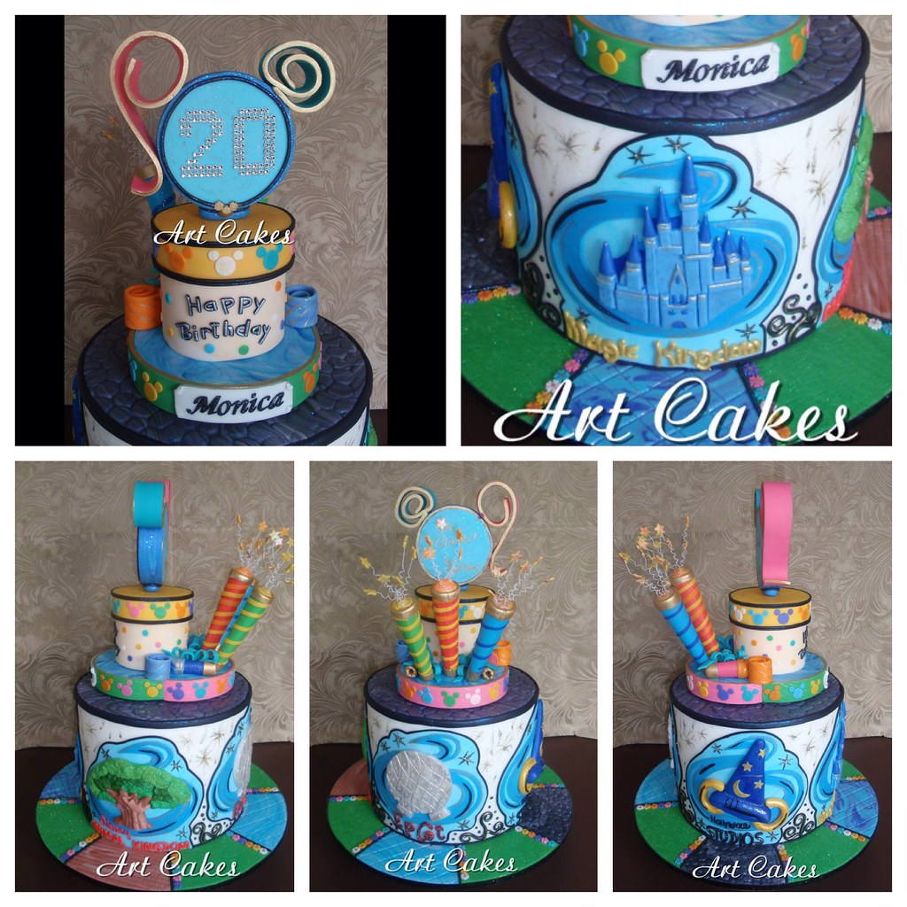Fine Disney World Cake Nora Rexach Flickr Funny Birthday Cards Online Chimdamsfinfo