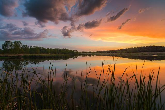 Atardecer en las Lagunas de Villalba de Duero