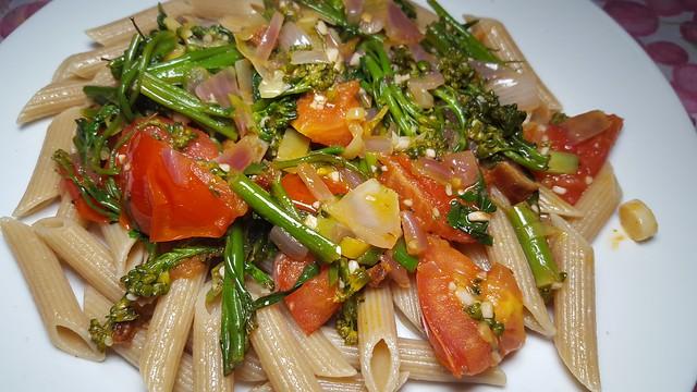 #310517 #almoço #pene vegetariano #lunch #vegan penne