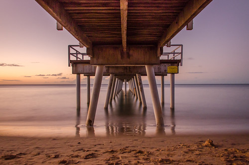 beach 18105 d7000 nikon tripod australia sunset long exposure sea pier colour