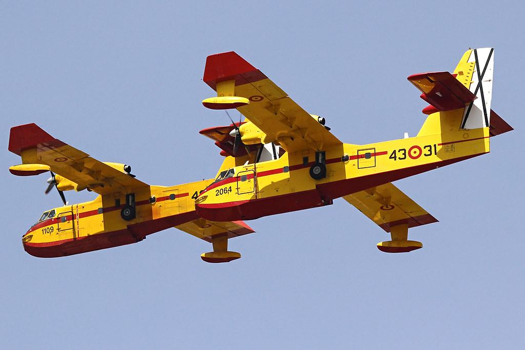 Aviones apagafuegos del 43 Grupo de Fuerzas Aéreas