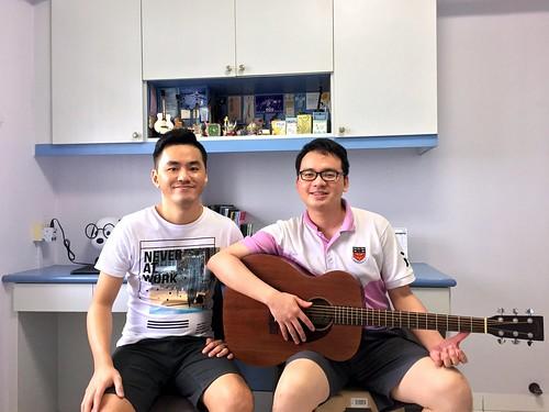 Adult guitar lessons Singapore Justin