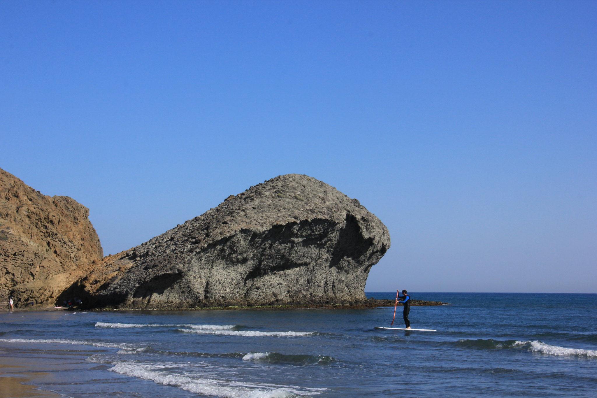 This beach of cabo de gata national park was featured in the movie Indiana Jones