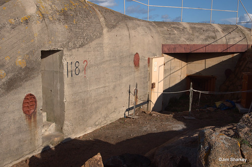 a bunker on Hitlers Atlantic wall on Jersey