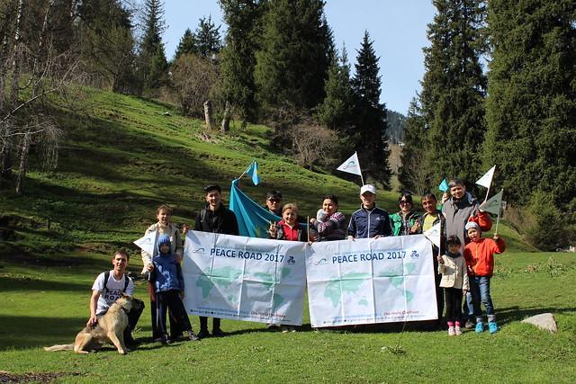 Kazakhstan-2017-05-08-Kazakhs Take 'Peace Road' up a Mountain