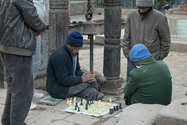 NPL - A game of chess - Bhaktapur - Nepal