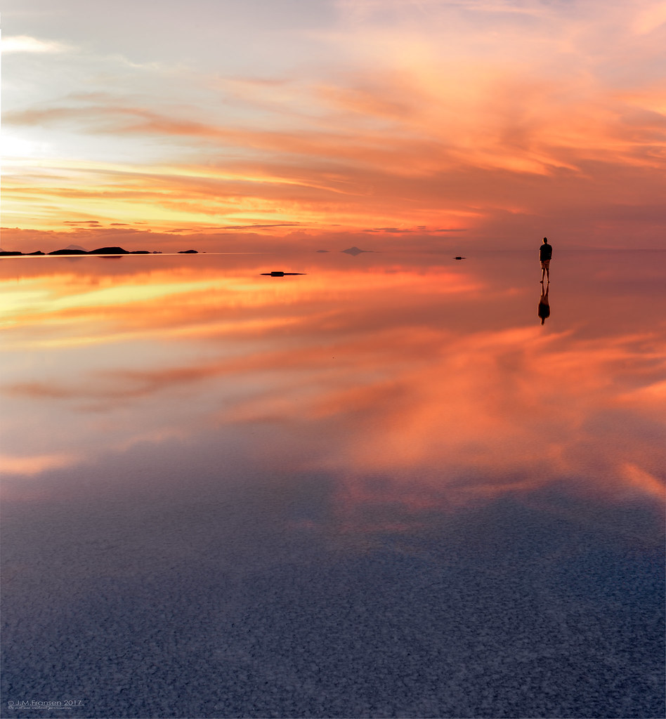 Salar De Uyuni Another Shot Of This Sunset Moment In Boliv