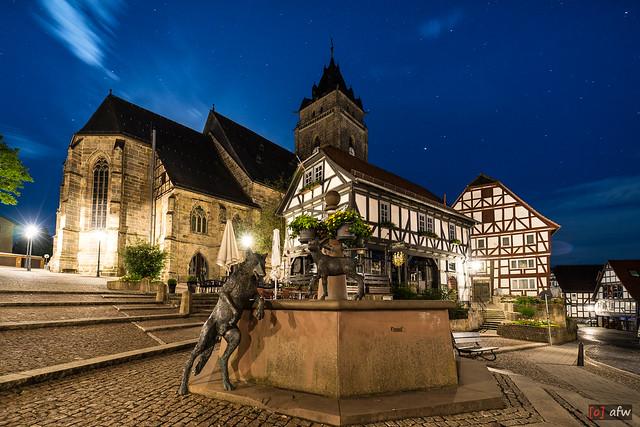 Marktplatz Wolfhagen mit St. Anna Kirche und