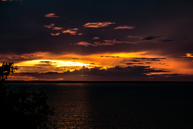 Sunset over Port Darwin