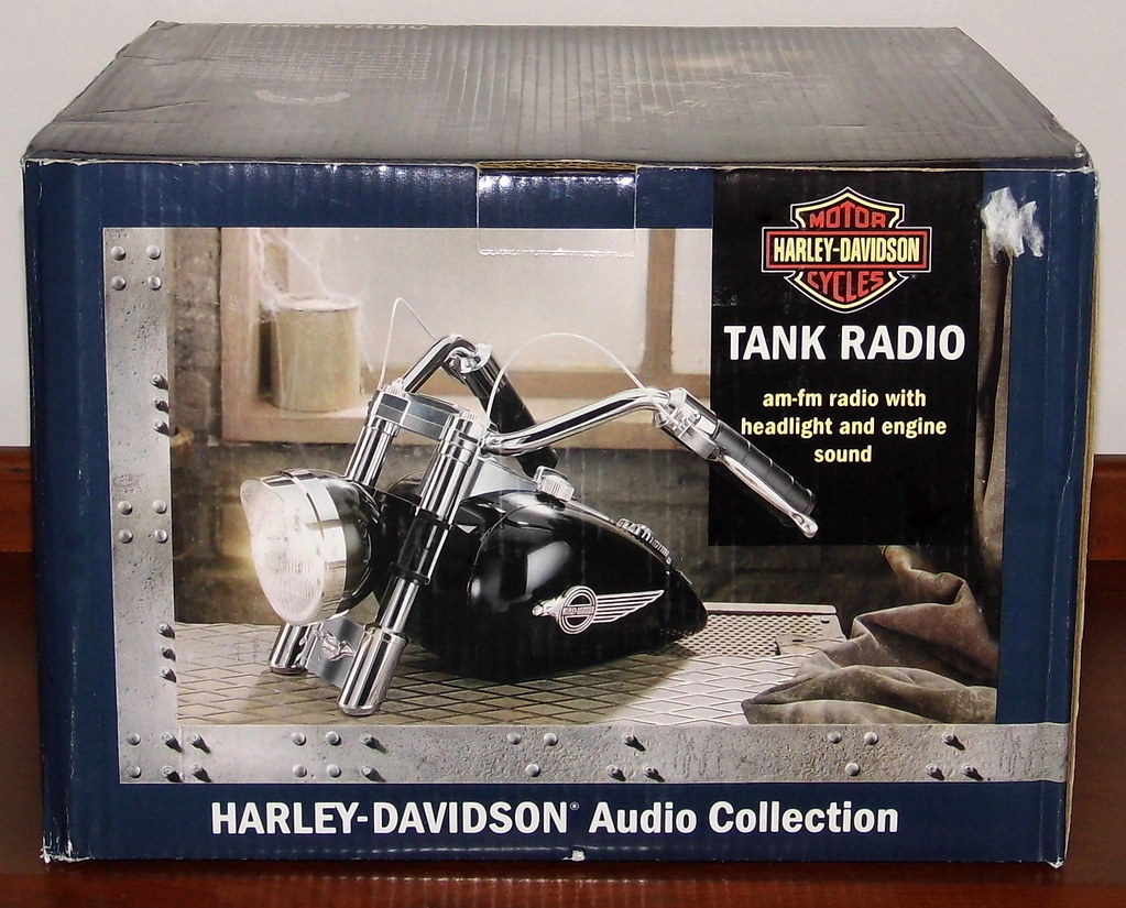 Harley-Davidson Novelty Radio With Headlight And Engine So… | Flickr