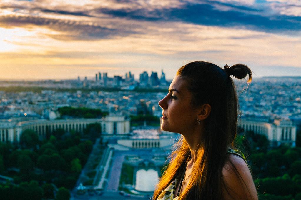 Eifel tower portrait
