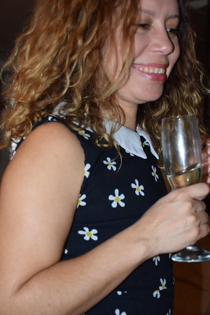 DSC_1334 Party Time with the Beautiful Michelle with Prosecco Italian sparkling white wine Shoreditch Studio London